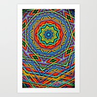 The small wool mandala Art Print