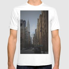 NY bluff Mens Fitted Tee White SMALL