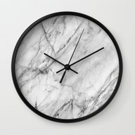 Wall Clock featuring Marble by Patterns And Texture…