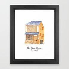 The gion house Framed Art Print