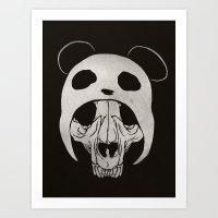 Panda Skull Art Print