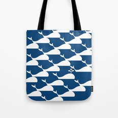 Whale in the ocean Tote Bag