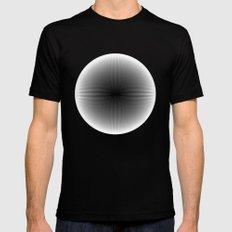 Fractal Snowball Inverted SMALL Mens Fitted Tee Black