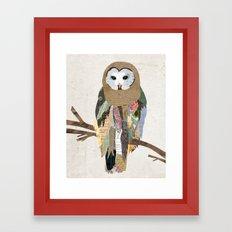 Owl Collage Framed Art Print