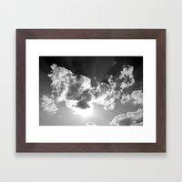 dark above Framed Art Print
