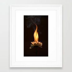 Soul burn Framed Art Print