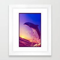 WATER IS LIFE Framed Art Print