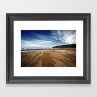 Running Sand Framed Art Print