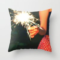 Summer Sparkler Throw Pillow