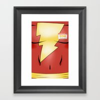 Hello My Name Is Shazam! Framed Art Print