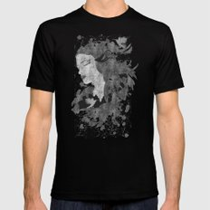 Cosmic dreams (B&W) Black Mens Fitted Tee SMALL