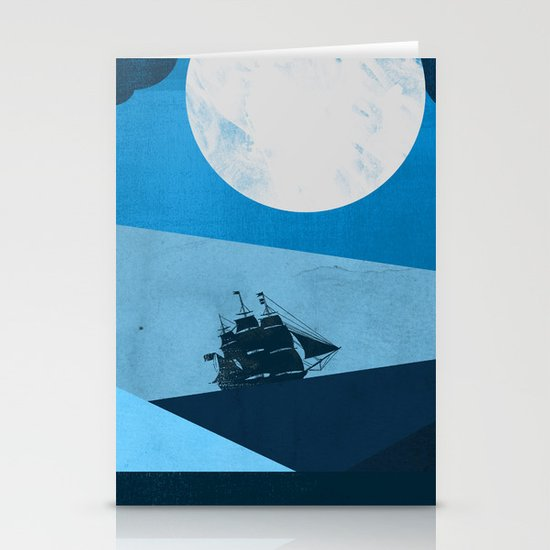 Solo Ocean Trip Stationery Card