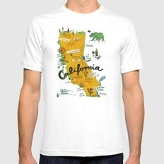 Postcard from California SMALL White Mens Fitted Tee