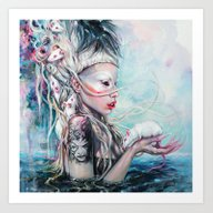 Yolandi The Rat Mistress… Art Print
