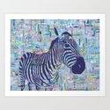 Zoe the Zebra Art Print