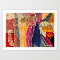 Collage Love - Asian Tie Art Print