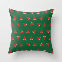 Sweet Watermelon Pictures Pattern Throw Pillow