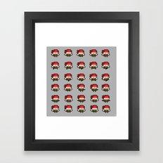 Pixel Bandanna Man Sprite Sheet 2015 Framed Art Print