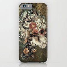 Skull on old grunge iPhone 6 Slim Case