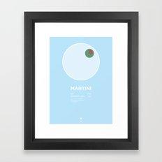 Martini Cocktail Recipe Poster (Metric) Framed Art Print