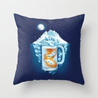The Polar Beer Club Throw Pillow