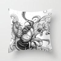 Cat Scratch Fever Throw Pillow