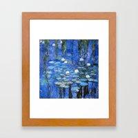 water lilies a la Monet Framed Art Print