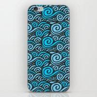 Wave Doodles iPhone & iPod Skin