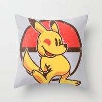 Pika Mouse Throw Pillow