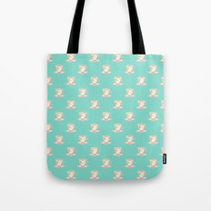Flamingo tea Tote Bag