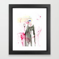 Here at the End Framed Art Print