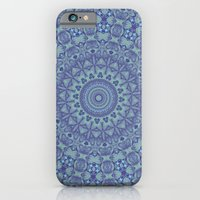 Shades of blue mandala iPhone 6 Slim Case