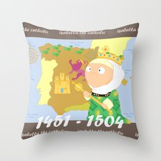 Isabella I of Castile Throw Pillow