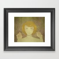 Abby - Roses Framed Art Print