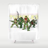 Philippine Revolutionary Ninja Turtles Shower Curtain