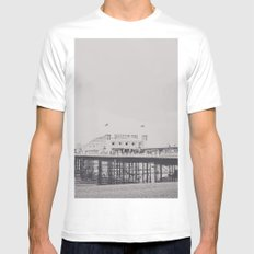 Brighton White Mens Fitted Tee SMALL