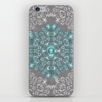 Mandala Pattern with Glitters iPhone & iPod Skin