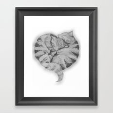Cuddling Cats Framed Art Print