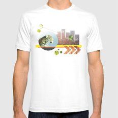 Urban Jungle #3 SMALL White Mens Fitted Tee