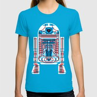 Artoo Womens Fitted Tee Teal SMALL