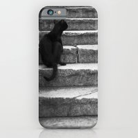 iPhone & iPod Case featuring black cat by Alexandre M. Ferreira