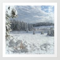 Scenery Forest Winter Wo… Art Print