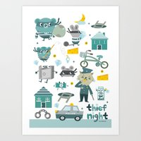 Thief Night Art Print