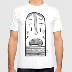 screamer Mens Fitted Tee White SMALL