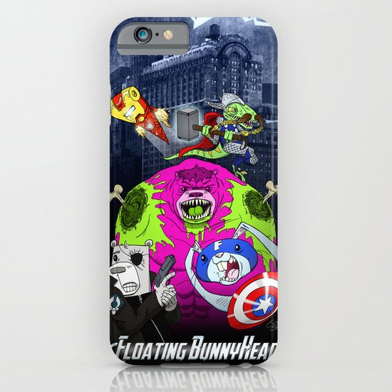 Floating BunnyHead + Avengers iPhone & iPod Case