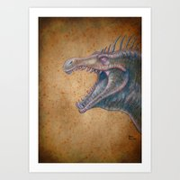 Medieval monster XVI Art Print
