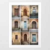 Nine Doors II Art Print