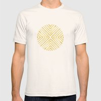 Gilded Bars Mens Fitted Tee Natural SMALL