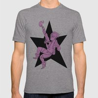 VIOLENCE PINKU Mens Fitted Tee Athletic Grey SMALL
