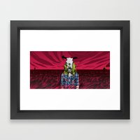 Cowgirl From Hell - Dark Framed Art Print